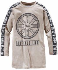 Creme witte BUFFALO, Jongens Shirt, crème / zwart / wit