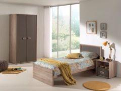 Vipack Furniture Vipack Jugendzimmer Emiel 3-tlg., Kleiderschrank 2-trg