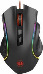 Zwarte Redragon Griffin RGB Gaming Muis - 7200Dpi - Ergonomisch model