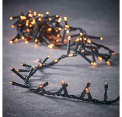 Gouden Luca Lighting kerstverlichting lichtsnoer ook voor buiten 1000 lampjes extrawarm wit timer met flashfunctie 2000 cm premium