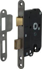 Nemef veiligheidsdeurslot 1279/17 rechts - Afstand 55mm - Doornmaat 50mm - RVS voorplaat - SKG* - Met veiligheidssluitkom - Met sluitplaat - Met bevestigingsmateriaal - In zichtverpakking