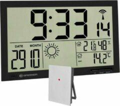 Merkloos / Sans marque Bresser MyTime Jumbo LCD Weerwandklok - Zwart