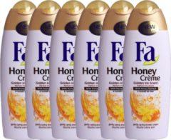 """Fa douche crème """"Honey/Golden Iris Scent"""" 6x 250ml VOORDEELVERPAKKING"""