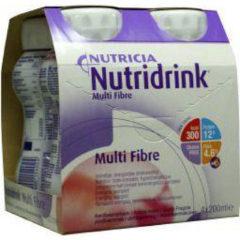 Nutridrink Multi fibre aardbei 200 ml 4 Stuks