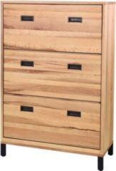 Möbel Ideal Schuhschrank Neru Eiche Massiv 124 cm Hoch