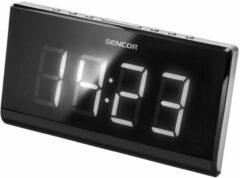 Zilveren Sencor SRC 340 - Klok Radio Digitaal - Zwart