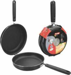 Zwarte Ibili Tortilla omelet dubbele koekenpan mini 14 cm