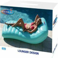 Blauwe Kerlis Luchtmatras Lounger Design - 170 x 87 x 48cm