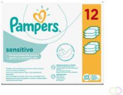 Pampers Billendoekjes Babydoekjes Sensitive Navulling Voordeelverpakking - 672 Stuks