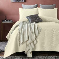 Creme witte DreamHouse Bedding Bedsprei Madison - Creme