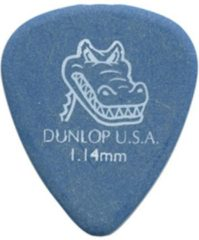 Blauwe Dunlop Gator Grip 1.14mm Pick 12-Pack standaard plectrum