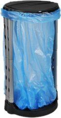 Merkloos / Sans marque Staande vuilniszakhouder prullenbak / vuilnisbak zwart 74 cm - Camping/tuin vuilnisemmers / vuilnisbakken / prullenbakken