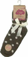 Beige Inter socks Huissokken Dames Maat 36-41- Anti-slip - Moederdag cadeautje