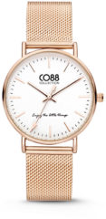 CO88 Collection Watches 8CW 10001 Horloge - Mesh Band - Ø 36 mm - Rosékleurig