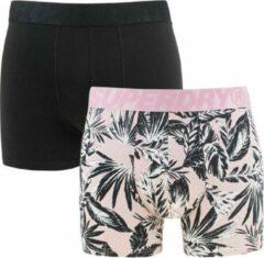 Superdry - boxers 2-pack roze & zwart - M