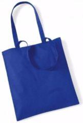 Westford Mill Katoenen tasje kobaltblauw 42 x 38 cm - boodschappentas / shopper / draagtas