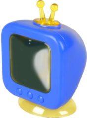 Flamingo Knaagdierenspeelgoed Betrand Tv - Speelgoed - 9x7x13 cm Blauw Wit Geel