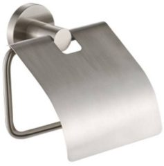 Roestvrijstalen Plieger Vigo - Toiletrolhouder met klep - RVS-look