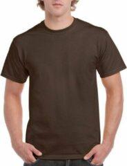 Gildan Donkerbruin katoenen shirt voor volwassenen L (40/52)