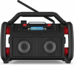 Zwarte Perfectpro ROCKPRO - FM - DAB+ - WiFi Radio - Spotify - Bluetooth - USB - Lithiumaccu - Oplaadbaar - RP1