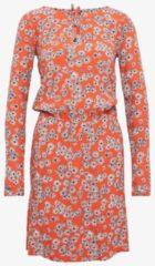 TOM TAILOR TOM TAILOR Damen Gemustertes Kleid mit Taillenbund, Damen, grenadine red, Größe: 40, rot, gemustert, Gr.40