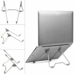 Grijze Case2go Universele Verstelbare & Opvouwbare Laptop Standaard Aluminium Stand - Zilver