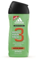 Adidas Active Start Body Hair Face Showergel And Shampoo