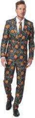 Suitmeister Pumpkin Leaves - Mannen Zomer Kostuum - Groen - Halloween - Maat L