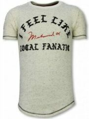 Beige T-shirt Korte Mouw Local Fanatic Longfit T-Shirt - I Feel Like Muhammad