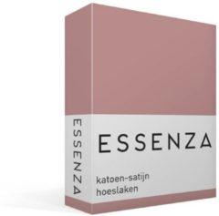 Roze Essenza Hoeslaken van katoensatijn 220TC, hoekhoogte 30 cm