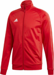 Rode Adidas Core 18 Polyester Trainingsjas - Maat L - Mannen - rood