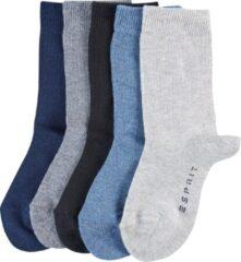 Blauwe Esprit Solid Mix Kids Sokken - 5 pack - Multicolour - Maat 27-30