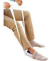 Aantrekhulp voor sokken en kousen Wenko blauw/wit