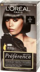 Zwarte L'Oréal Paris Préférence 1 - Zwart - Permanente Kleuring - Extra-Langhoudend haarkleuring
