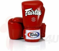 Fairtex (kick)bokshandschoenen Tight Fit Rood 10oz