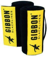 Gibbon Slacklines - Tree Wear XL - Boombescherming maat 2 x 200 cm, zwart/geel