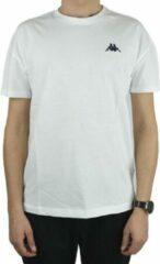 Kappa Veer T-Shirt 707389-11-0601, Mannen, Wit, T-shirt, maat: XL EU