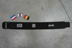 Zwarte Tuff Guy Sports Tuff Guy - Black Nylon PRO Lifting Belt - Gewichthef Riem - Geschikt voor Functional Fitness, Olympisch Gewichtheffen en CrossFit - SMALL