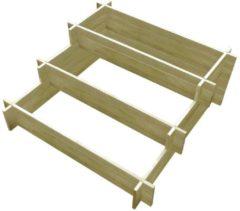 Bruine VidaXL Plantenbak drielaags 90x90x35 cm FSC geïmpregneerd hout