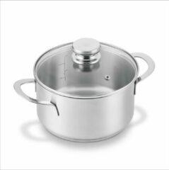 Grijze BRABANTIA ENJOYMENT Kookpot - met deksel - Ø 20 cm - RVS - inductie