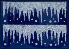Peha Stickerset Ijspegels 29,5 X 40 Cm Zilver 2-delig