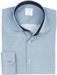 Donkerblauwe SKOT Fashion Overhemd Duurzaam Heren Serious Mystic - donker blauw - Maat 46