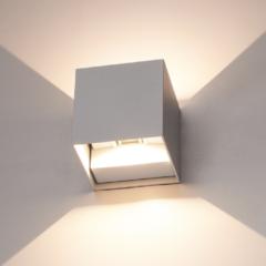 HOFTRONIC™ Wandlamp LED Grijs - Kubus tweezijdig oplichtend - IP65 - Geschikt voor binnen en buiten