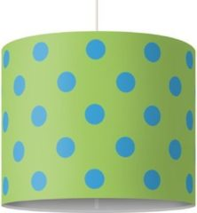 PPS. Imaging Pendelleuchte - No.DS92 Punktdesign Girly Grün - Lampe - Lampenschirm Blau