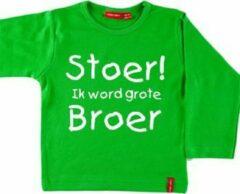 Simply colors T-shirt lange mouw | Hoera! ik word grote broer| groen | maat 98/104