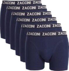 Blauwe Zaccini 6 boxershorts navy-S