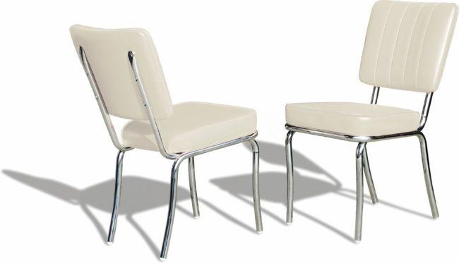 Afbeelding van Gebroken-witte Bel Air Retro Fifties Furniture Bel Air Retro Eetkamerstoel CO-25 Off White