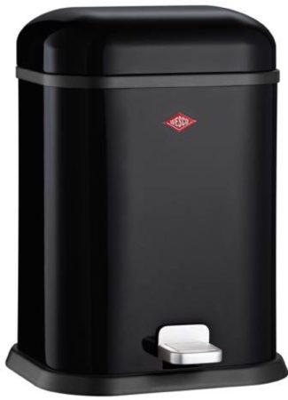 Afbeelding van Zwarte Prullenbak Single Boy - 13 Liter - - Wesco (SALE)