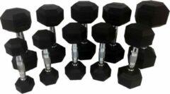 Zwarte MD Sport Dumbbellset 12,5KG | Set van 2 stuks