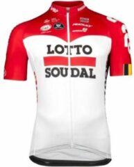 Rode Lotto Soudal Vermarc Trui Korte Mouwen SPL Aero Maat XL